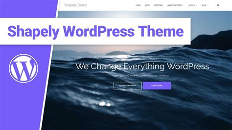 Shapely WordPress Theme Review - Responsive, One Page