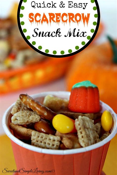 Quick and Easy Scarecrow Snack Mix - Sweet and Simple Living