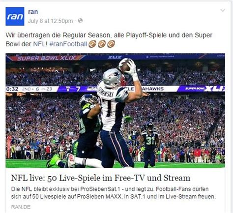 American Football (NFL) Free-to-air, Pay-TV and Live