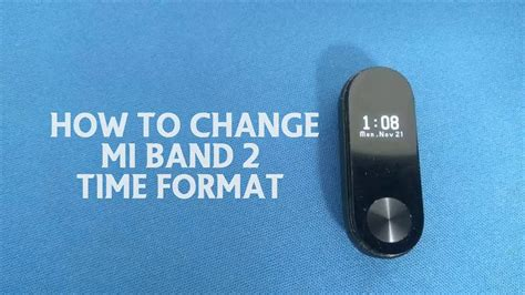How To Change Mi Band 2 Time Format - YouTube