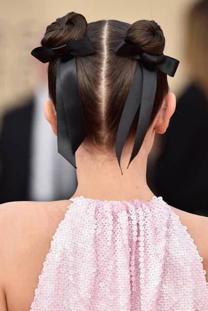 Celebrity Hairstyles 2018: Ribbon And Bow Accessories