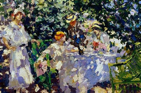 First traits of Russian impressionism: Vivid colors of
