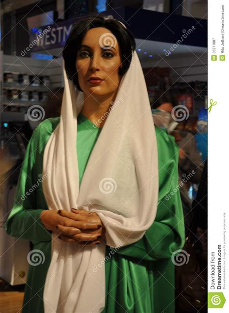 Benazir Bhutto wax statue editorial photography