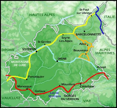 Hiking paths in High Provence - Sport and Outdoor