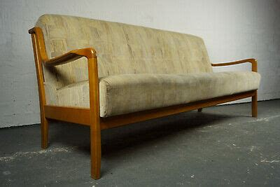 60er Mid-Century Sofa Daybed Retro Couch Schlafsofa