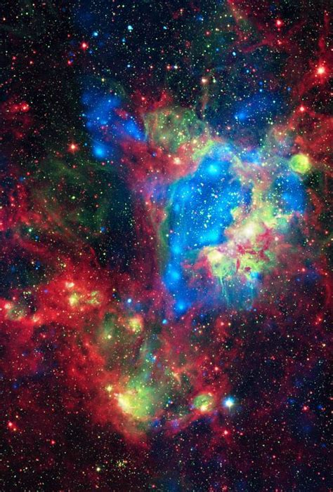 This composite space wallpaper shows a superbubble in the
