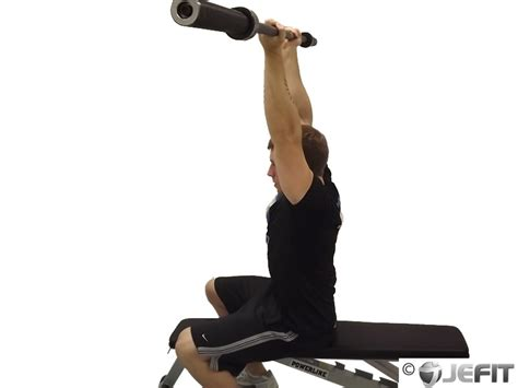 EZ Bar Seated Reverse Grip French Press - Exercise