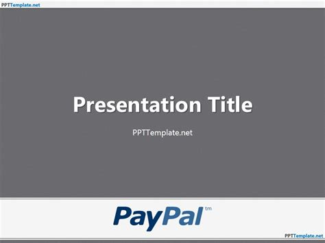 Free PayPal With Logo PPT Template
