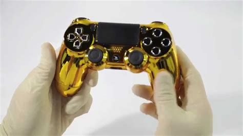 """""""Gold"""" PS4 Custom Modded Controller with Chrome Buttons"""