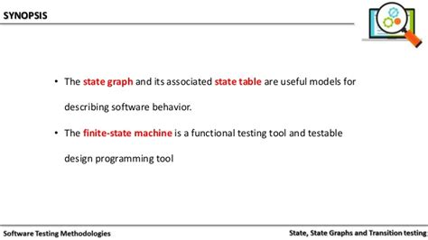 States, state graphs and transition testing